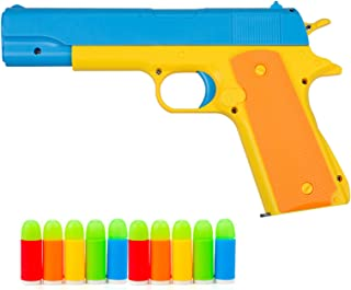Rivoean Classic Foam Play Toy Guns Colt 1911 Toy Gun with Tactical Colorful Soft Bullets,Real Dimensions,Fun Outdoor Game