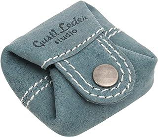 Gusti Monedero Cuero Linus Monedero portamonedas pequeño Azul Claro