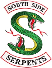 Riverdale Large Southside Serpents Patch Sew or Iron on Patches Cool Biker Back Embroidered Applique Patches for Jacket Shirts Backpacks Clothes Hoodie (3 Piece Set)