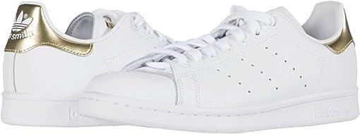 Footwear White/Footwear White/Gold Metallic