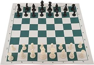 """WHHHuan Ensemble D'échecs Portatifs De Voyage 18""""x3.5 Chesspieces en Plastique avec Sac De Rangement pour Enfants Débutant..."""
