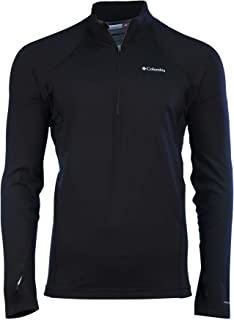 Columbia Men's Midweight Half Zip Omni Heat Top Black Shirt