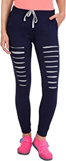 American-Elm Designer Cotton Slim Fit Track Pants for Women| Running Tights for Women Slim Fit | Active Sports Track Pant ...