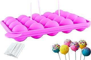 ETHEL Moule à Pop Cake, 20 Moules à Lollipop Bonbon, Moules À Sucettes en Silicone, Cavités Moule Pop Cake, pour Faire Lol...