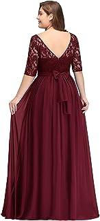 5f79217e48088 MisShow Robe Femme Demoiselle d honneur pour Soirée Cérémonie Elégante avec  Manche Floral en Mousseline