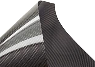 USAQ 500x400x0.3mm Pure 3k Carbon Fiber Veneer Sheet Panel Twill Weave Ultra-High Gloss