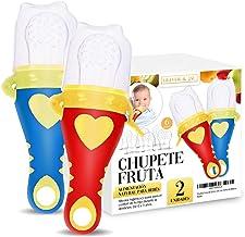 Adem/ás incluye 9 bolsitas de silicona de todos los tama/ños mordedores bebes LABOTA 3 piezas Alimentador antiahogo bebe chupete fruta bebe