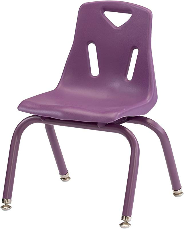 Jonti Craft Berries Plastic Kids Chair W Powder Coated Legs In Purple 14 In H Purple