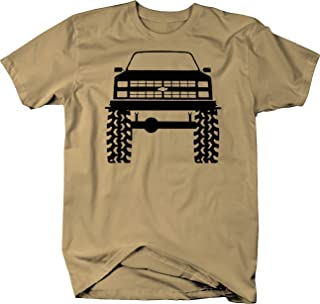1980's 90's Chevy K5 Blazer Lifted Mud Tires Truck Color Tshirt