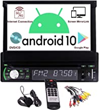 Single Din Autoradio Android GPS 1 Din Autoradio Bluetooth 7-Zoll-Flip..