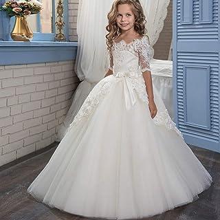 子供の女の子のドレス 女の子のレースの花嫁介添人ドレスの結婚式のページェントドレスチュールパーティードレス年齢2-13Y 女の子のパーティーウェディングブライドメイドの王女のドレス (サイズ : 8-9T)