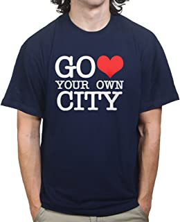 Go Heart Love Your Own City New York T-shirt Navy Blue 3XL