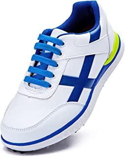 WUDAXIAN Breathable Children's Golf Shoes, Waterproof Shoes for Boys and Girls, Youth Non-Slip Soles Golf Sneakers with Fi...
