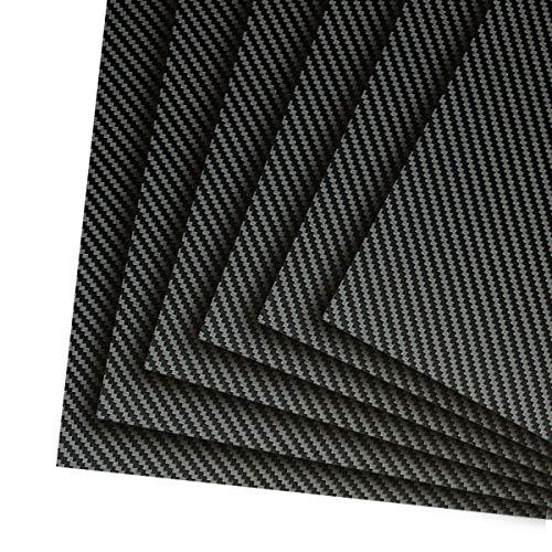 4.0mm 500x600mm 100% 3K Carbon Fiber Sheet Twill Matte Surface