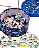 Jaques of London Juego de pesca magnética | Juguetes de madera | Juego de pesca | Juguetes perfectos para niños pequeños | Juguetes Montessori para 2 3 4 años | Desde 1795