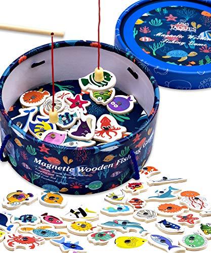 Jaques of London Magnetisches Angelspiel Holzspielzeug Angelspiel - Perfektes Kleinkindspielzeug Empfohlenes Spielzeug für 2 bis 4-Jährige
