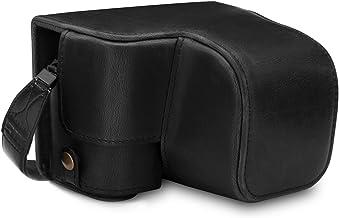 MegaGear MG1651 Ever Ready - Funda de Piel para cámara Sony Alpha A6100, A6400 (16 a 50 mm), Color Negro