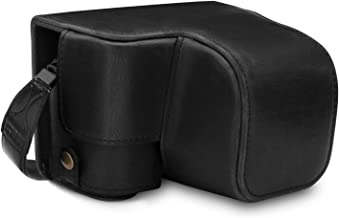MegaGear Ever Ready Leather Camera Case Compatible with Sony Alpha A6100, A6400 (16-50mm)