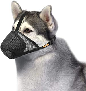 Dog Muzzle Mesh with Overhead Strap, No Lick Dog Mask Mouth Guard Muzzle for Dogs Prevent Biting Chewing