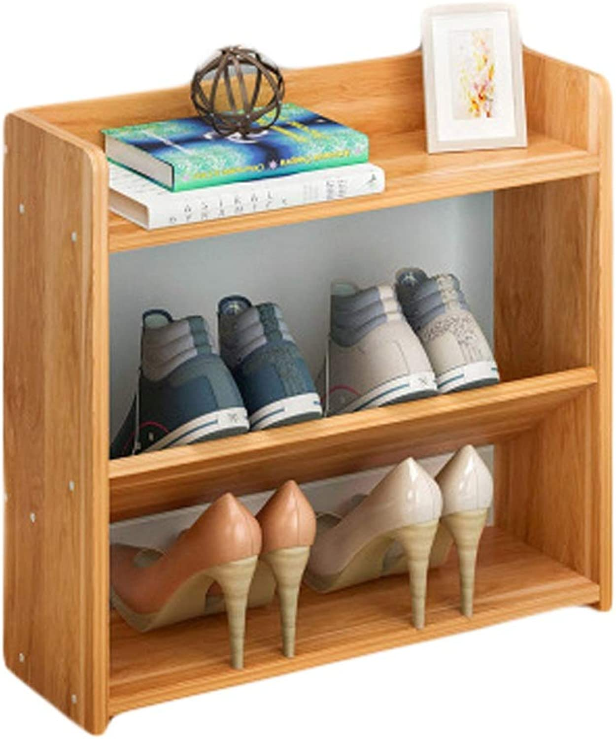 shoes Rack Wooden shoes Rack Simple shoes Rack Multifunctional shoes Rack Living Room Dormitory shoes Rack shoes Organizer, Storage Shelf, Ideal for Entryway (color   Red Leaf Maple, Size   40  17  18cm)