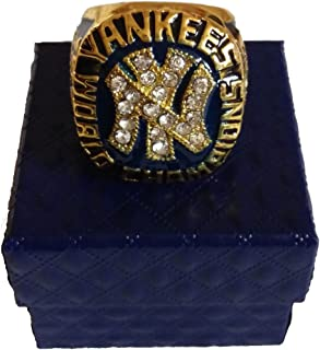 YIYICOOL Father's Day World Series New York Yankees Derek Jeter Championship Ring Size 11 Gifts Men Fans (1977 NY Yankees)
