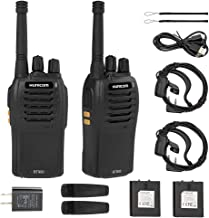 HUNICOM Walkie Talkies, USB Rechargeable Two Way Radios, Clear Sound Long Range Walkie Talkie with Earpieces, 2 Way Radios with Charger for Family Activities, Camping, Hiking, Biking (2 Pack)