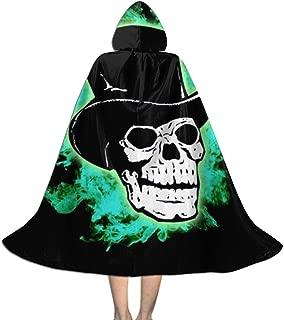 WPdragon Unisex Kids Boys Girls Skull Hooded Cloak Long Hooded Cape Halloween Cosplay Cloak Cape for Halloween Costume