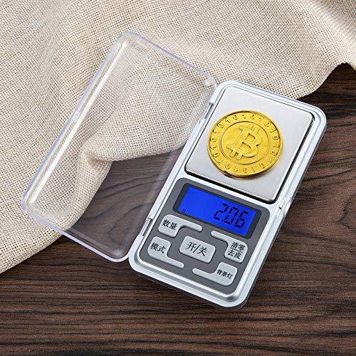 Báscula Digital de Cocina,Balanza de Alimentos Multifuncional, Escala de Peso de Alta Precisión con Función de Tara, Pantalla LCD Báscula de Alimentos Electrónica -300 g / 0,01 g