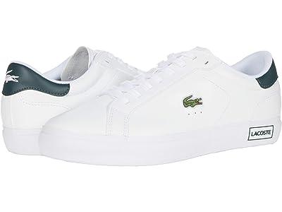 Lacoste Powercourt 0520 1 (White/Dark Grey Green) Men