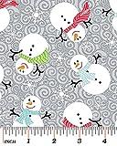 Stoff aus Baumwolle mit weihnachtlichem Aufdruck und