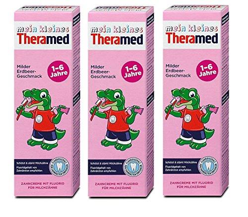 Mein Kleines Theramed Kinder Zahncreme 1-6 Jahre 50 g, Pack of 3
