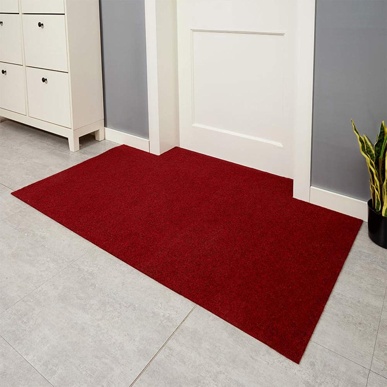 Doormat,Indoor mats Household Outdoor Door mats Front Door mat Foot pad The Door Durable Easy to Clean-Red Wine 80x100cm(31x39inch)