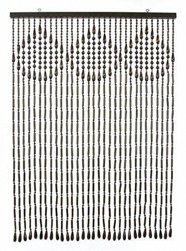 NaturalHouse 昭和 レトロ 木珠 のれん 日本製 ブラウン 幅 85 長さ 120 cm S ー 120 BR ブラウン