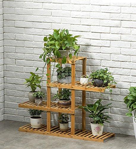 Qi Peng Jardinière en bois massif, balcon, petite jardinière, salon, jardinière multicouche, anti-corrosion, facile d'entretien 4 tailles disponibles Etagère (taille : 98x80cm)