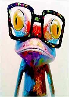 ufengke Colorful Frog 5D Diamond Painting Kits by Numbers Full Drill Diamond Embroidery Cross Stitch Mosaic Making, 25 35cm Design