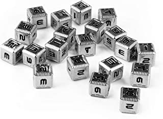 Saberforge Heavy Metal 12mm D6 Dice SciFi Numbers (20 Pack)