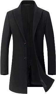 ODFMCE コート メンズ ロング ジャケット チェスターコート ウール 厚手 秋冬 ビジネス 無地 紳士服 防寒 大きいサイズ