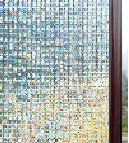 LMKJ Elektrostatische Fensterfolie 3D-Leimfreie Sichtschutzfolie aus Mattglas, UV-Schutzfolie, verwendet für Home-Office-Glasfolie A28 45x200cm