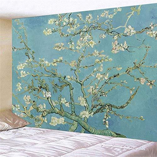 Geométrico famoso Van Gogh imprime colgante de pared pintura al óleo abstracta dormitorio sala tapiz de fondo tela a3 180x200cm