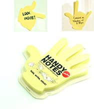 KKMO Fold Write Handy Notes Hand Shaped Sticky Notes Sticker 90 Sheets (Yellow Handy)