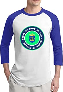 Coat Of Arms Of The Kingdom Of Toledo Raglan Sleeves T Shirt For Men