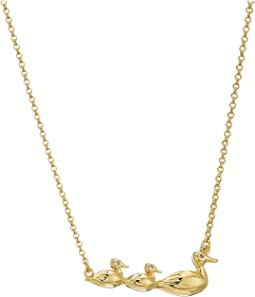 Mom Knows Best Duck Pendant Necklace