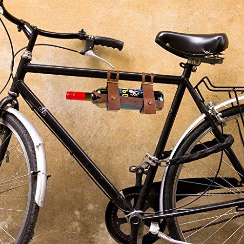 CKB Ltd® Weinflaschenhalter aus Leder, Flaschenhalter ideal für Wein für ein Picknick oder Ausflug