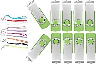 Pen Drive 2GB 10 Piezas Práctico Flash Drives - Portátil Pendrive 2 GB Giratorio Kit Memoria Flash USB 2.0 - FEBNISCTE Alm...