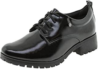 Sapato Feminino Oxford Ramarim - 1887101 Verniz/preto