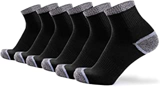 SUNJUN, 6 pares de calcetines de algodón Entrenamiento Entrenamiento Senderismo Caminar Calcetines deportivos para hombres y mujeres