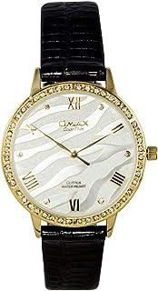 اوماكس ساعة انالوج بعقارب جلد دائري للجنسين -GT005G62I