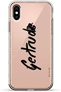 Name: Gertrude, Hand-Written Style | Luxendary Air Series Clear Silicone Case with 3D Printed Design and Air-Pocket Cushio...