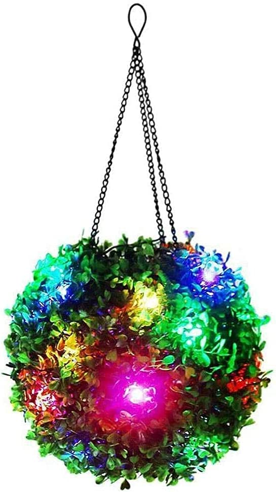 GESHIDA Solar LED Artificial Plant Cheap Topiary Ball Bo Lighted It is very popular