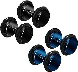 BanaVega 4PCS Anodized Black O-Ring Ear Stretcher Plugs Flesh Earring Lobe Gauge Piercing Jewelry Choose Sizes